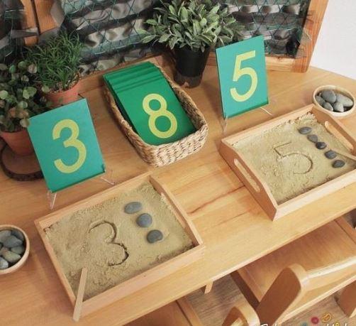 montessori učenje črke števlke